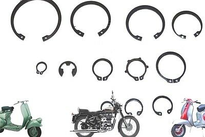New Circlip Kit For Lambretta Gp Li Sx Tv Scooter Series 1 2 & 3 Scooters Spares