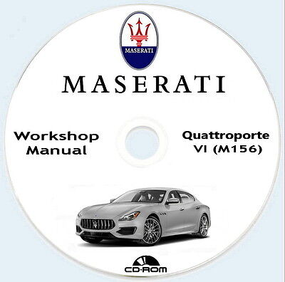 Workshop Manual,manuale officina Maserati Quattroporte VI M156 V8 2013