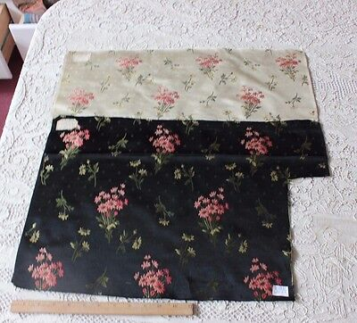 French 19thC Floral Lyon Silk Brocaded Sample Textile Fabric~Dolls, Dec