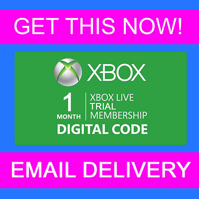 1 Month Microsoft Xbox LIVE 360 / One Xbox Live Membership - INSTANT EMAIL