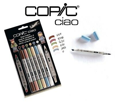 Copic Ciao 5+1 Scrap & Stempelset 2 - Graphic Art -5 Markers +Colourless Blender