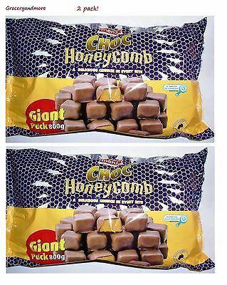 2 x Menz Choc Honeycomb Giant Pack 800g Sweets Candy Snack Chocolate 2 PACK BULK