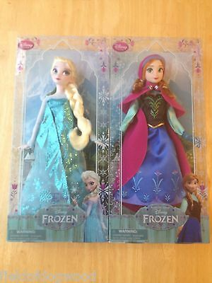 """NEW Disney Store Frozen Disney Classic Doll Collection Elsa and Anna 12"""""""