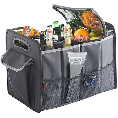 VonHaus Car Boot Travel Storage Organiser Foldable Tidy & Cooler Bag Heavy Duty