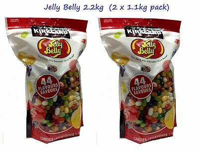 2 x Jelly Belly Beans 1.8Kg Bulk 44 Flavours USA Jelly Belly Gourmet Bean