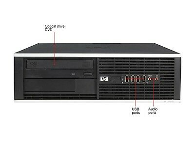 PC HP Elite 8100 SFF PROCESSEUR INTEL G6950 2,8 GHz 4GO RAM DISQUE DE 250Go DVD