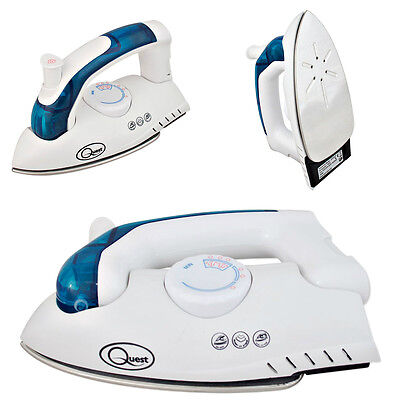 Foldable Travel Steam Iron 750W Variable Steam/dry Iron Dual Voltage Easy Glide