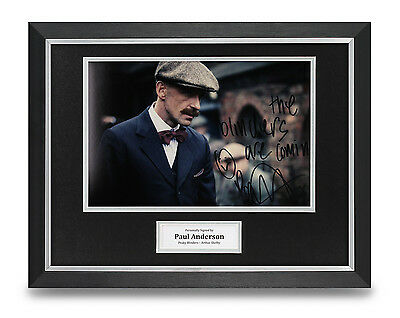 Paul Anderson Signed Photo Framed 16x12 Peaky Blinders Autograph Memorabilia COA