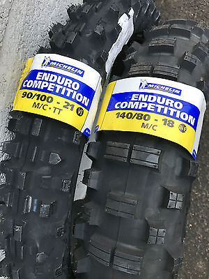 New! Michelin Enduro 90/100-21 comp 6 & 140/80-18 comp 3, Road legal