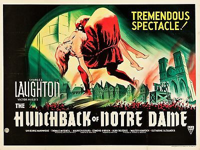 """The Hunchback of Notre Dame 16"""" x 12"""" Reproduction Movie Poster Photograph"""