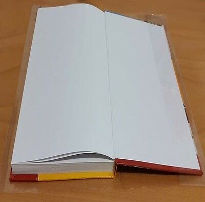 X 20 - A4 size Brodart Fold-On ARCHIVAL Book Jacket Covers - super clear mylar