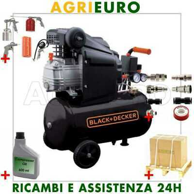 Compressore compatto coassiale Black & Decker elettrico 2HP 24 lt aria compressa