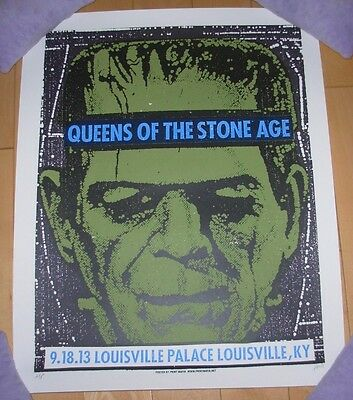 QUEENS OF THE STONE AGE concert gig poster LOUISVILLE 9-18-13 2013 print mafia