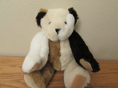 """Vermont Teddy Bear Misfit Handmade In Vermont Tricolor 15"""""""