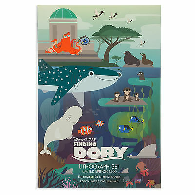 Disney Pixar - Finding Dory Limited Edition 1500 Lithograph Set of 5- NEW!