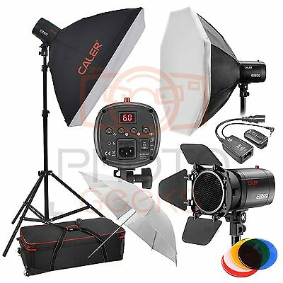 New JINBEI CALER Studio EII Flash Lighting Kit / 750w / 3 x EII 250w Flash Heads