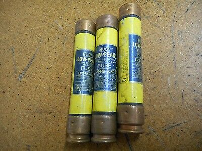 Buss Low-Peak LPS-RK-60SP Dual Element Time Delay Fuses 60A 600VAC (Lot of 3)