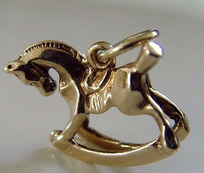 VINTAGE 9 ct GOLD ROCKING HORSE CHARM