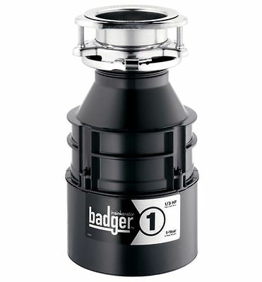 InSinkErator Badger 1 Garbage Disposal 1/3-HP Continuous Feed Waste Sink Kitchen