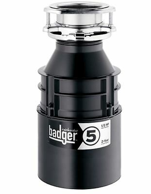 InSinkErator Badger 5 Garbage Disposal 1/2-HP Continuous Feed Waste Sink Kitchen