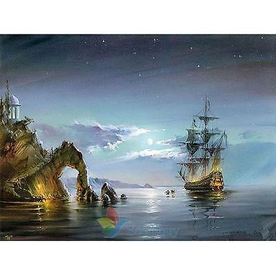 40*30cm DIY Paint By Number Digital Oil Painting Kit Canvas Sailing A