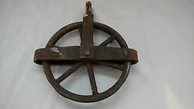 Vintage Antique Cast Iron 5¼'' Clothes Line Clothesline Pulleys Rusted steampunk