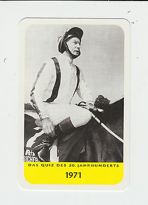 Horse Racing : Lester Piggott : German collectable game card
