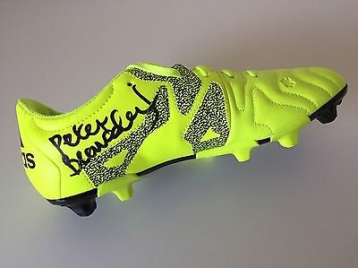 RARE Peter Beardsley Liverpool Newcastle Signed Football Boot +COA PROOF ENGLAND