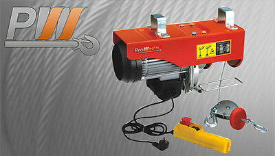 PROWINCH 1 TON Electric Rope Hoist with Pendant Control and Emergency Stop