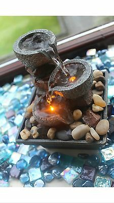Stone Effect Water Fountain Indoor Slate Feng Shui Table Decoration Home Gift