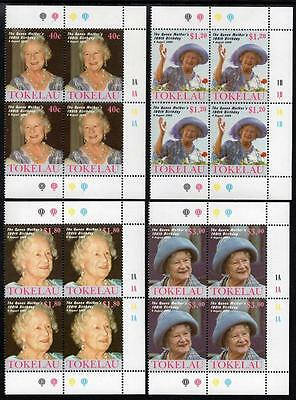 Tokelau MNH 2000 100th Anniv Birth of Queen Elizabeth the Queen Mother Blocks