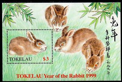 Tokelau MNH 1999 Chinese New Year - Year of the Rabbit Minisheet