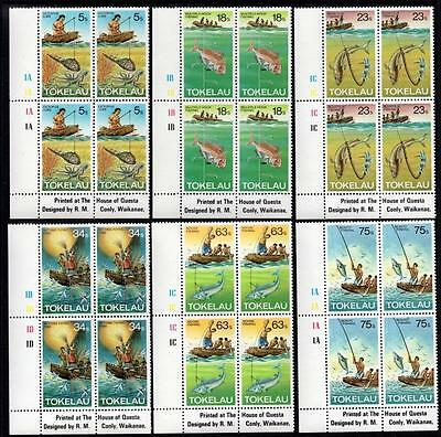 Tokelau MNH 1982 Fishing Methods Blocks