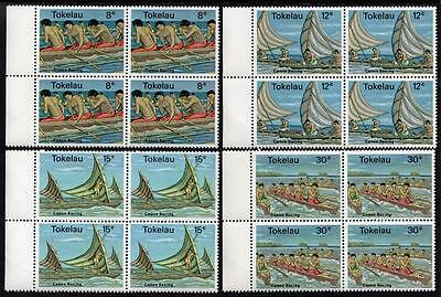 Tokelau MNH 1978 Canoe Racing Blocks