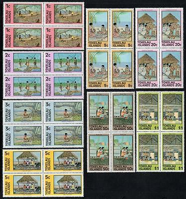 Tokelau MNH 1976 Definitive Issue Blocks