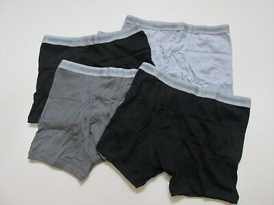 Gildan Mens Boxer Briefs Premium Cotton Comfort 4-Pack Size XL LG MED SM New