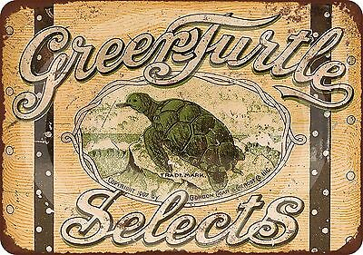 Green Turtle Selects Cigars Vintage Look Reproduction Metal Sign 8 x 12 made USA