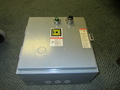 Square D Enclosed Lighting Contactor 8903LG60V02CP72 120V Coil New Surplus