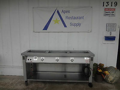 Servolift  3 Pan Electric  Hot Food Table/Steam Table  #1874