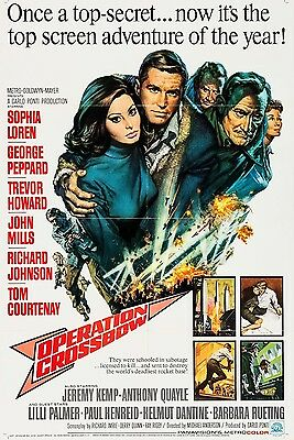 """Operation Crossbow 16"""" x 12"""" Reproduction Movie Poster Photograph 2"""