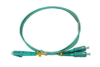 LC-SC OM4 DX Multi Mode Fibre Patch Lead