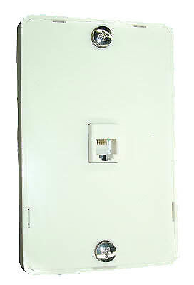 New Telephone Technical Services Pty Ltd Wall Mount Plate RJ12 and Cord