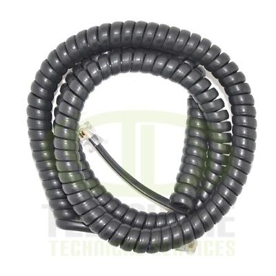 NEW Amdex 5M Replacement Curly Phone Cord in Black (RJ11)
