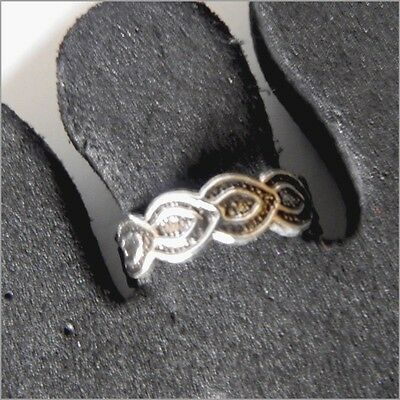 New Toe Ring Sterling Silver 925 Adjustable Solid Band Women Girl Body Jewellery