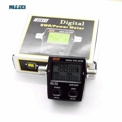 Digital SWR Standing-Wave & Power Meter NISSEl RS-50 125-525Mhz for 2 Way Radio