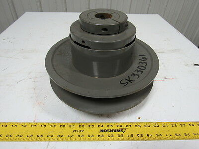 """T.B. Woods MCS-12S Two Flange Moveable Variable Pulley Sheave 1-5/8"""" Bore"""