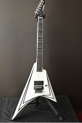 Edwards E-AL-128 scythe White w/soft case Free shipping Guiter From JAPAN #A2614