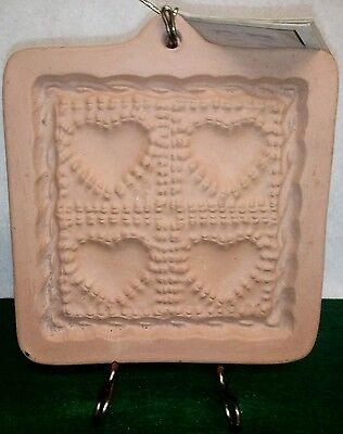 Quilted heart cotton press cookie stamp