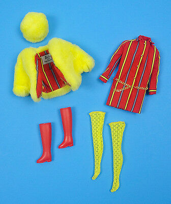 BARBIE SMASHEROO Vintage MOD Repro Reproduction Dress Belt Stockings Doll Outfit