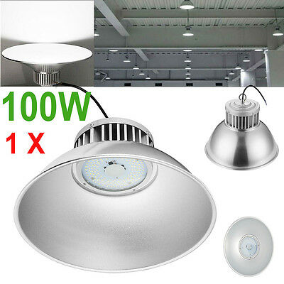 100W Watt LED High Bay Light Lamp Warehouse Fixture Factory Shed Lighting